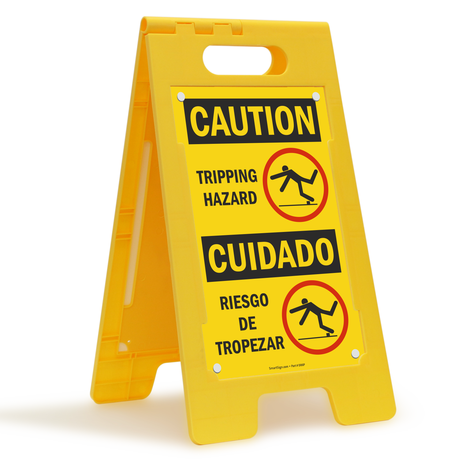 Tripping Hazard, Riesgo De Tropezar Bilingual Caution Sign
