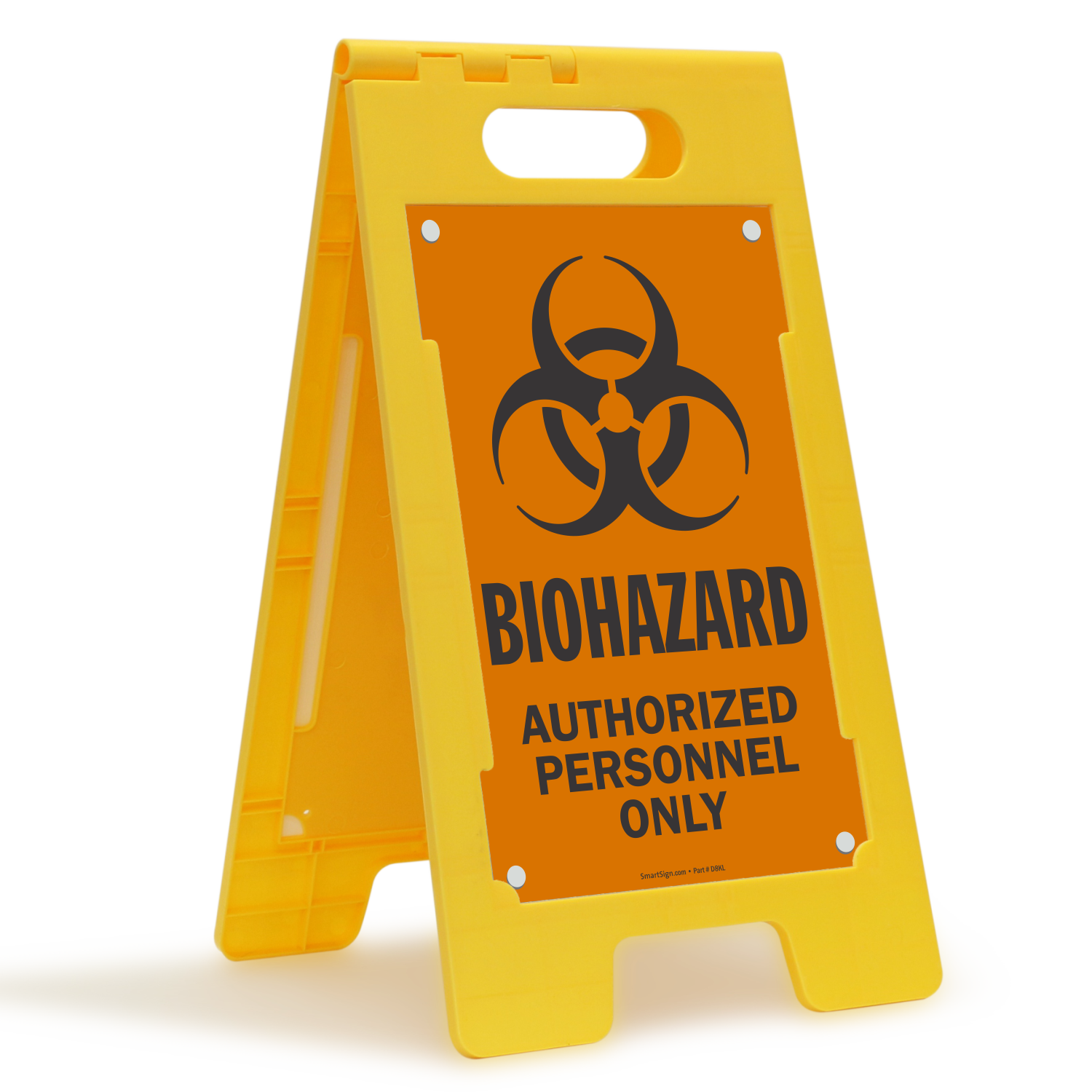 Biohazard Authorized Personnel Only Floor Standing Sign