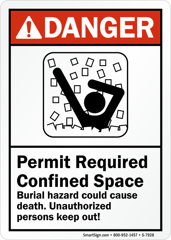 Burial Hazard Could Cause Death ANSI Danger Sign