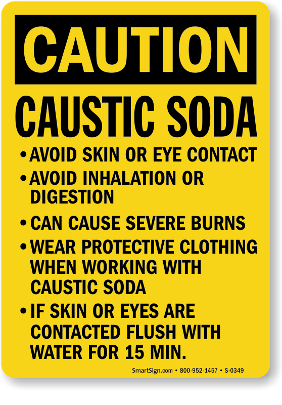 Caustic Signs Caustic Danger Signs Mysafetysign