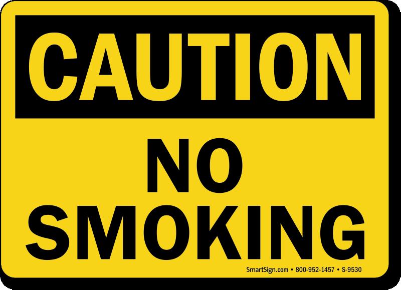 OSHA No Smoking Signs | Free PDFs - MySafetySign.com