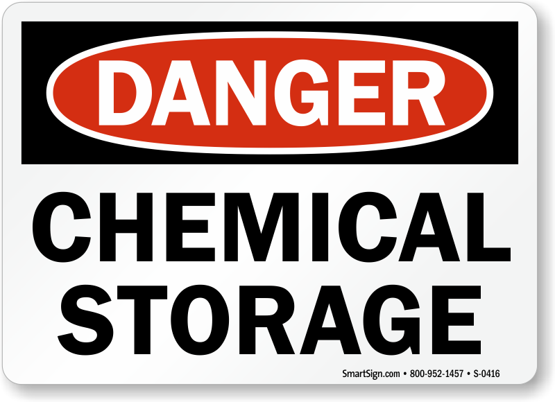 Chemical Storage Signs Chemical Storage Area Signs