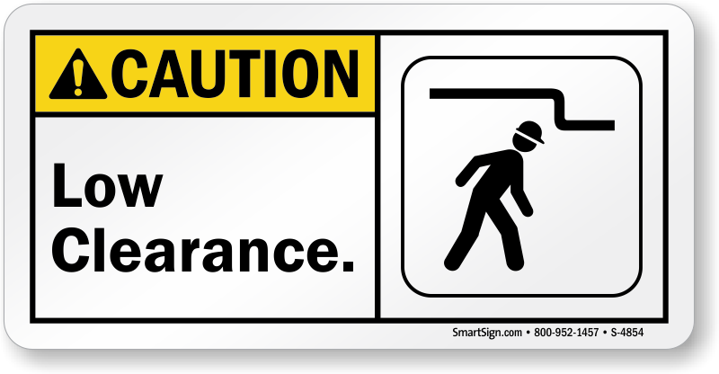 Watch Your Head Signs | Low Headroom Warning Signs
