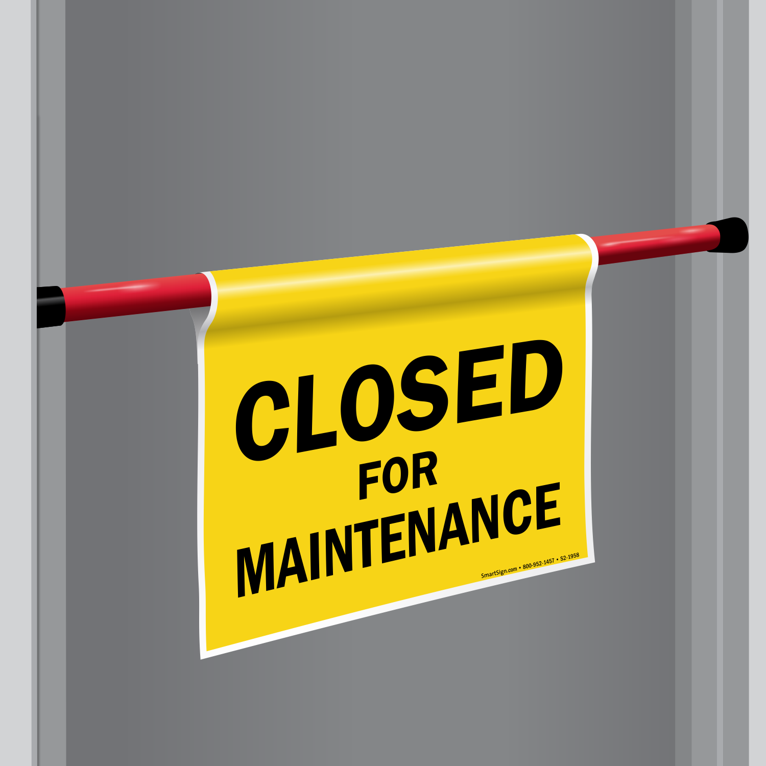 Closed For Maintenance Door Barricade Sign  sc 1 st  MySafetySign.com & Closed For Maintenance Door Barricade Sign SKU: S2-1958 ...