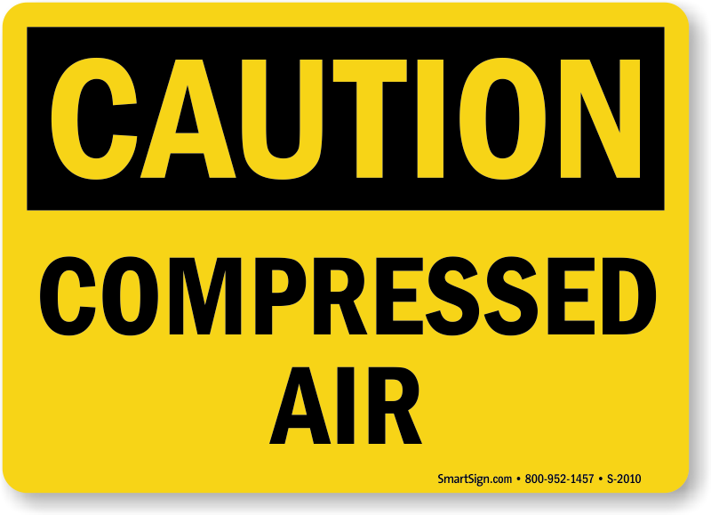 Compressed Air Gas Safety Signs Mysafetysign