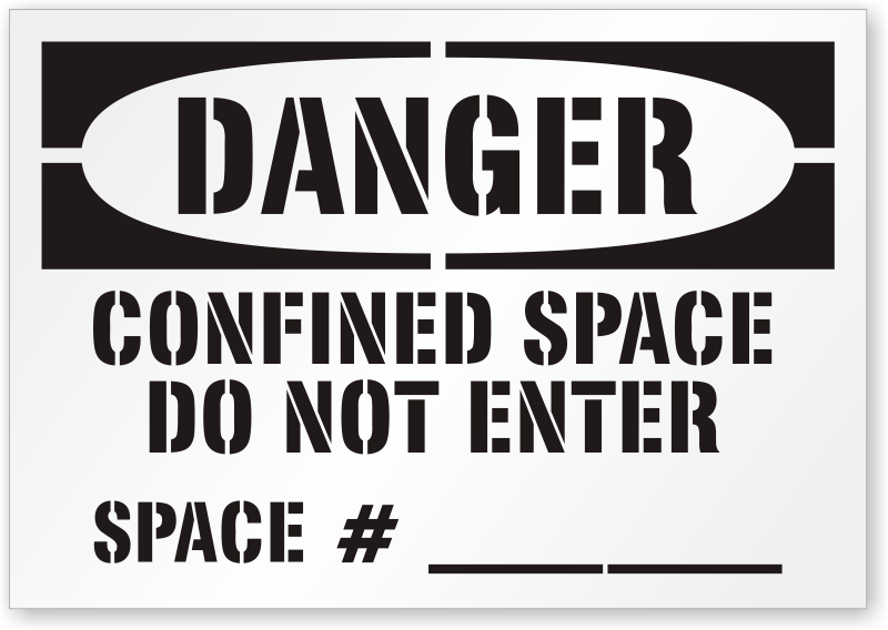 Confined Space Do Not Enter Floor Stencil