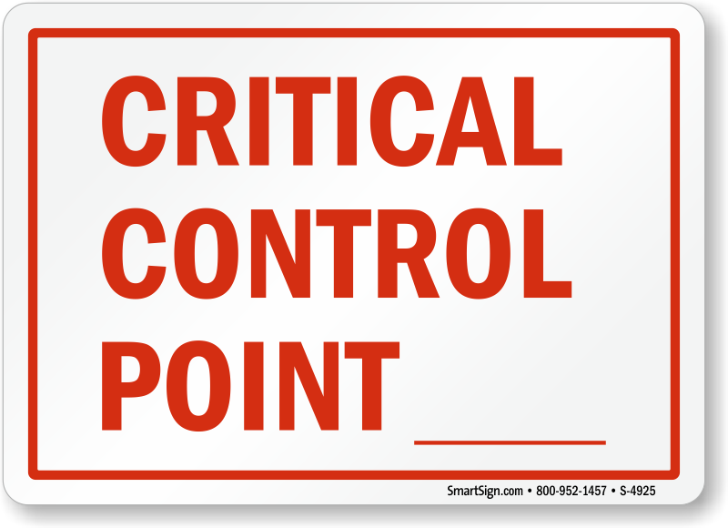 food safety and critical control points Once a food company's hazard analysis and critical control points team establishes critical control points (ccps), their next task is to identify critical limits within each ccp.