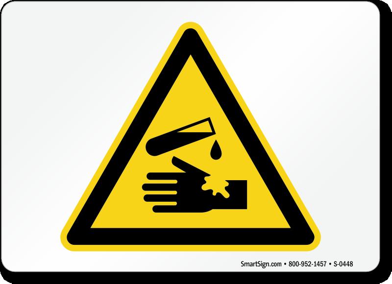 Corrosive Materials Signs Corrosive Material Warning Sign