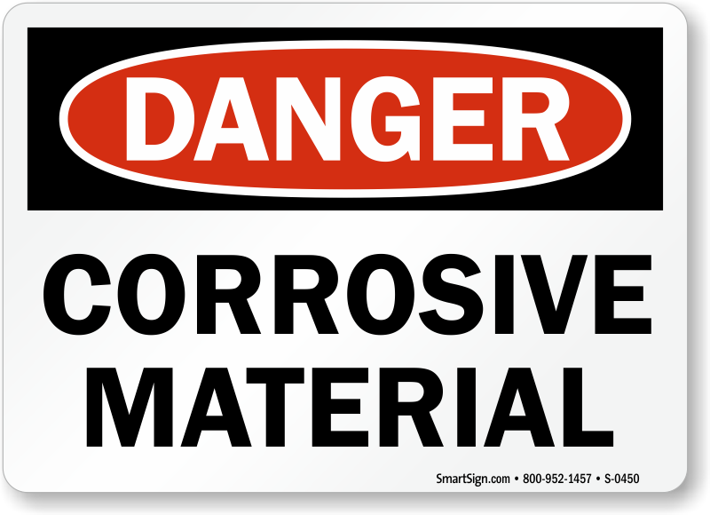 Corrosive Materials Signs Free Shipping From Mysafetysign