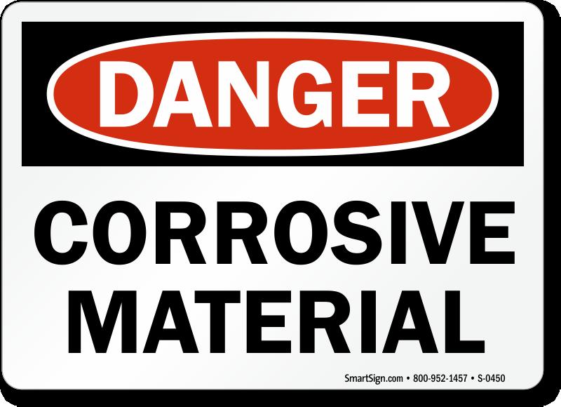 Danger Corrosive Material Sign