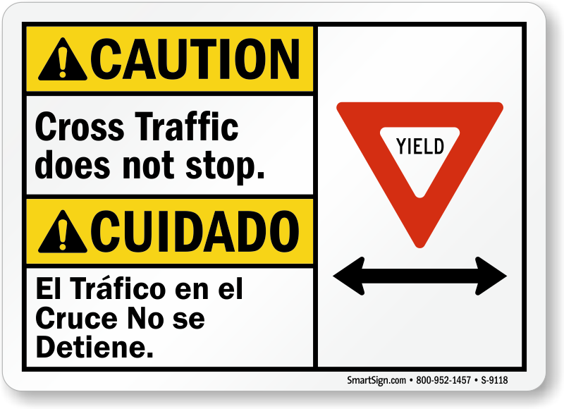 Cross Traffic Doesn't Stop Sign