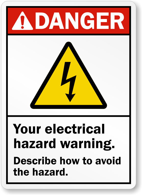 Electrical Safety Signs Electrical Warning Signs