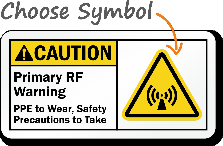 Custom ANSI Rf Warning Sign