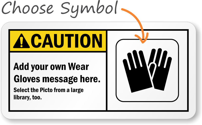 Gloves Required Signs Wear Gloves In This Area Signs