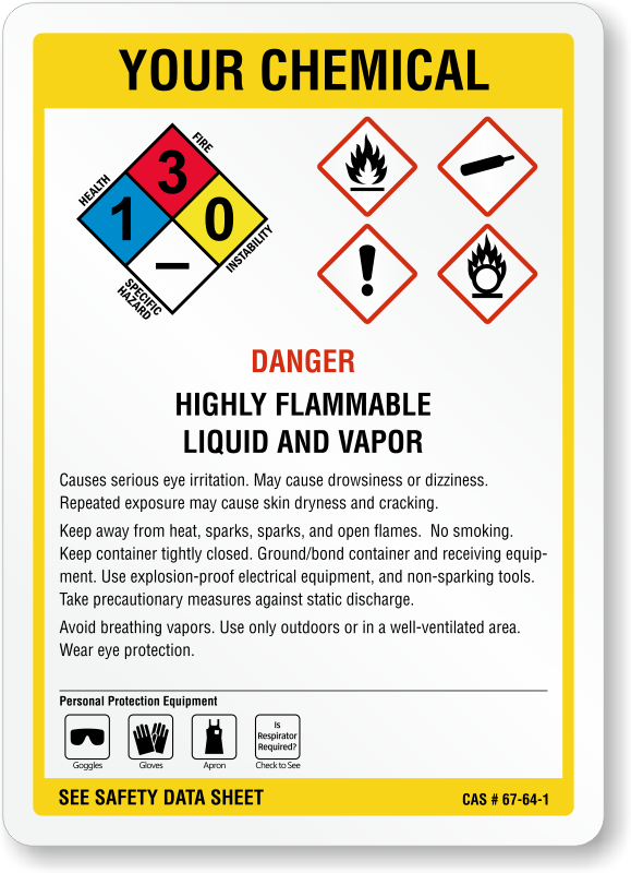 customizable ghs and nfpa combo chemical sign sku s 3692