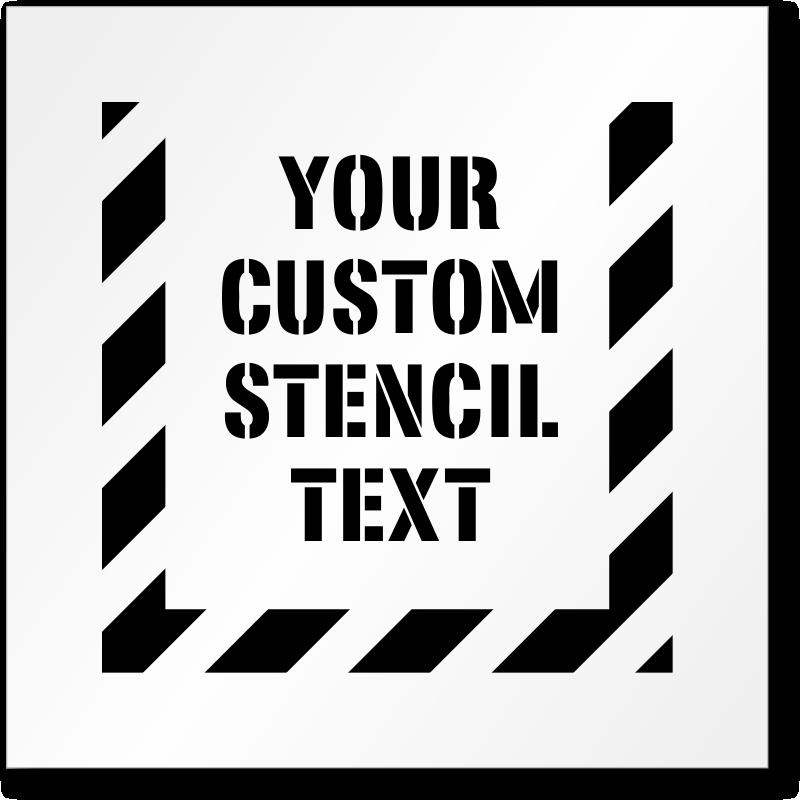 floor safety stencils safety message stencils floor stencils