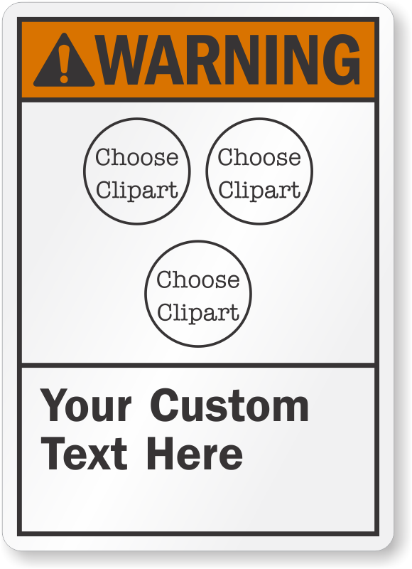 Customizable ANSI Warning Multiple Cliparts Sign