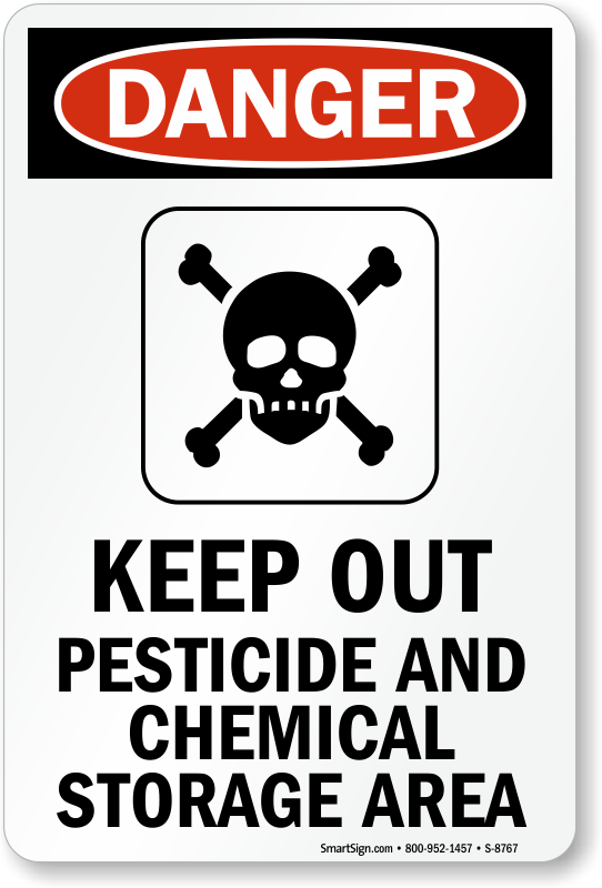 Pesticide Signs Pesticide Application Warning Signs