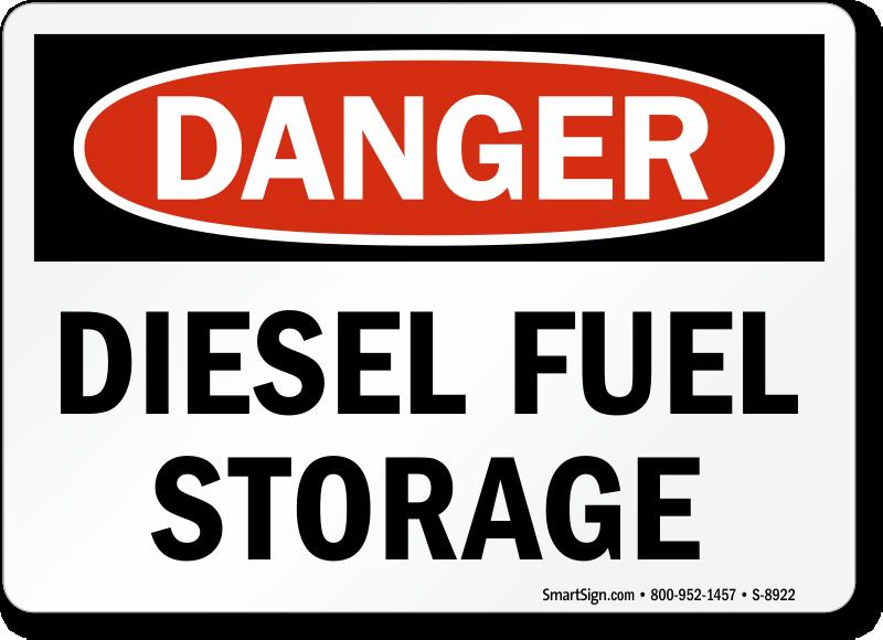 Fuel Tank Signs Diesel Fuel Tank Capacity Signs