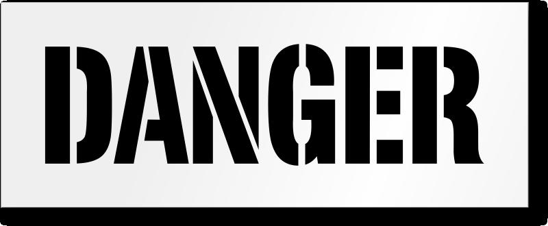 Danger Floor Stencil