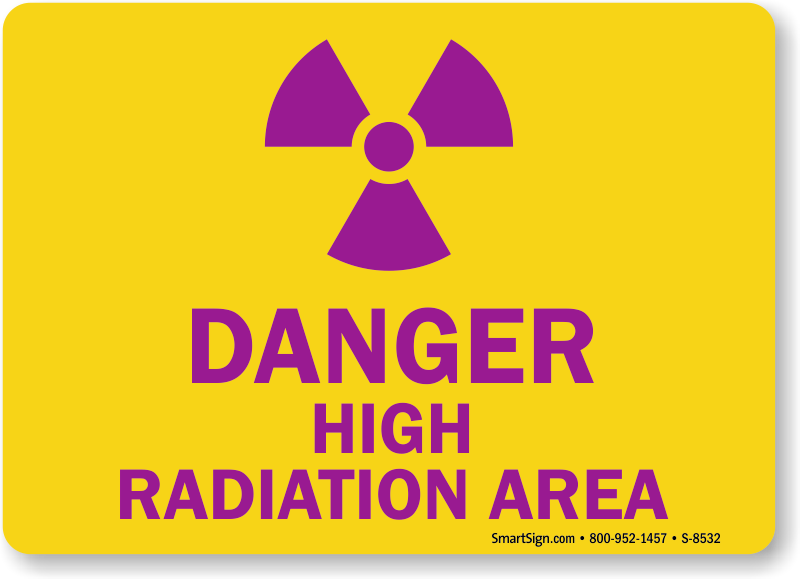 Danger High Radiation Area Sign Radiation Signs Online