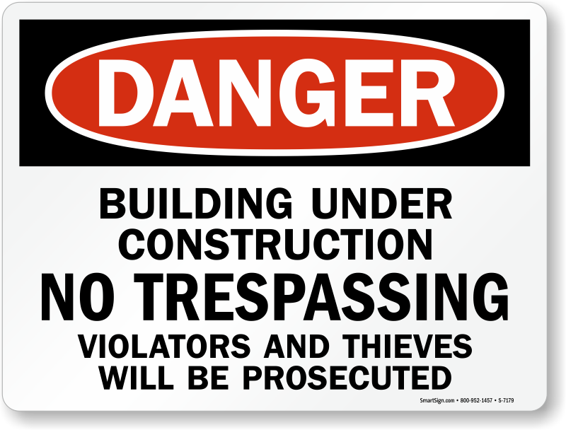Safety Sign For Building Site Free