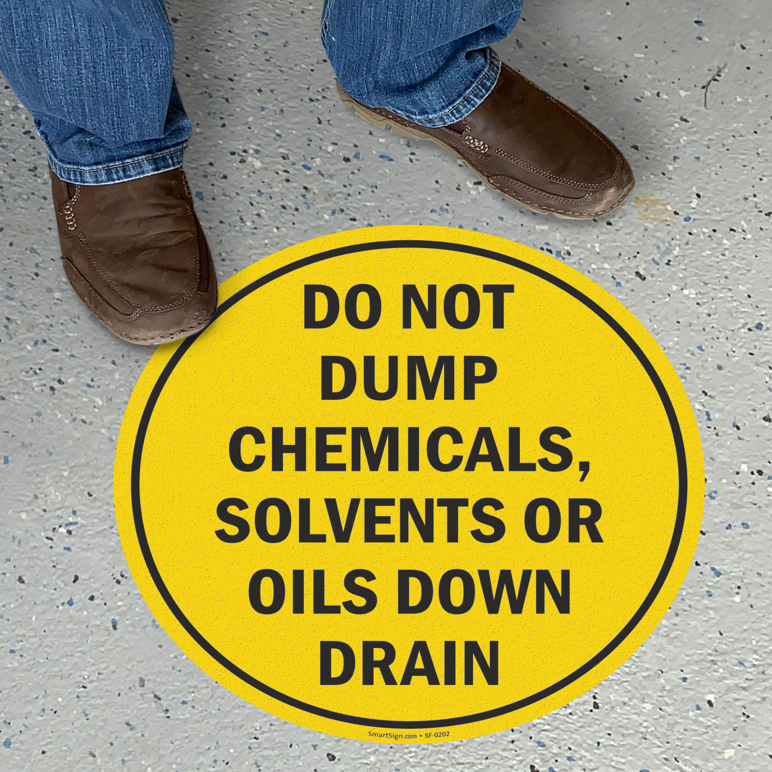 Do Not Dump Chemicals Solvents Or Oils Down Drain Sign