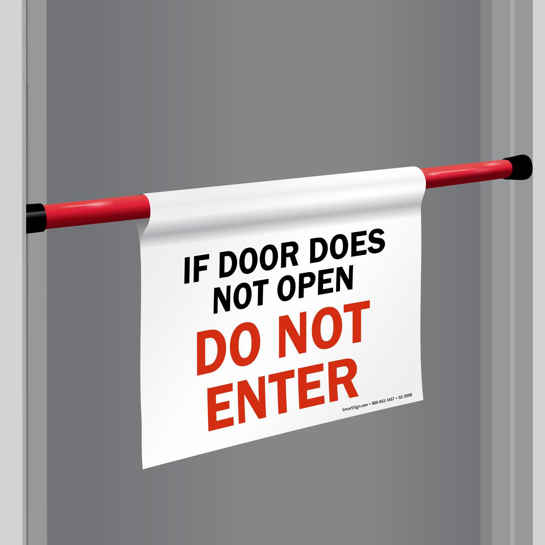 Do Not Enter Signs | Do Not Enter Door Barricade Signs