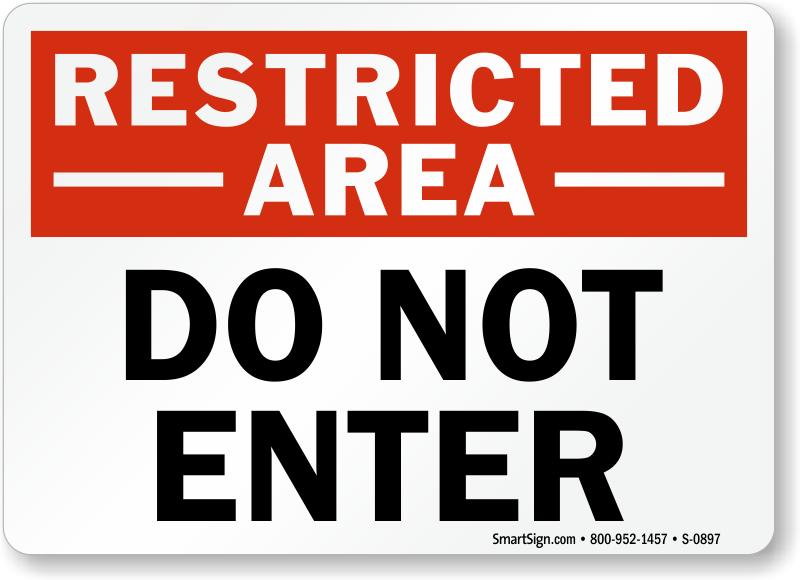 Stupendous image for do not enter sign printable