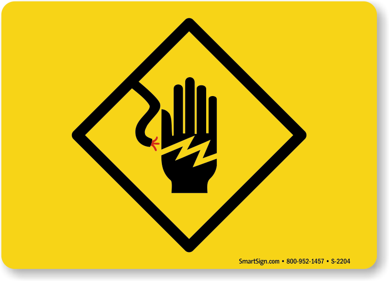 Electrical Symbol Hand Shock Sign Sku S 2204 Mysafetysign