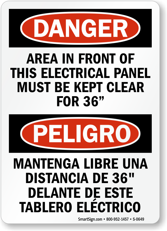 Electrical Panel Signs Free Shipping On 25