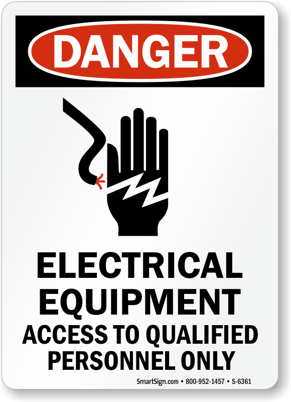 Electrical Equipment Service Instruction Signs