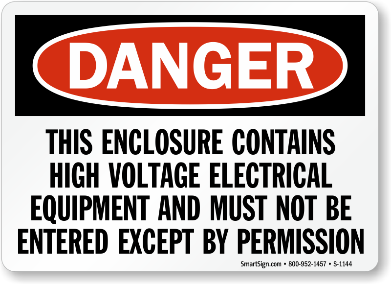 High Voltage Electrical Equipment Enter By Permission