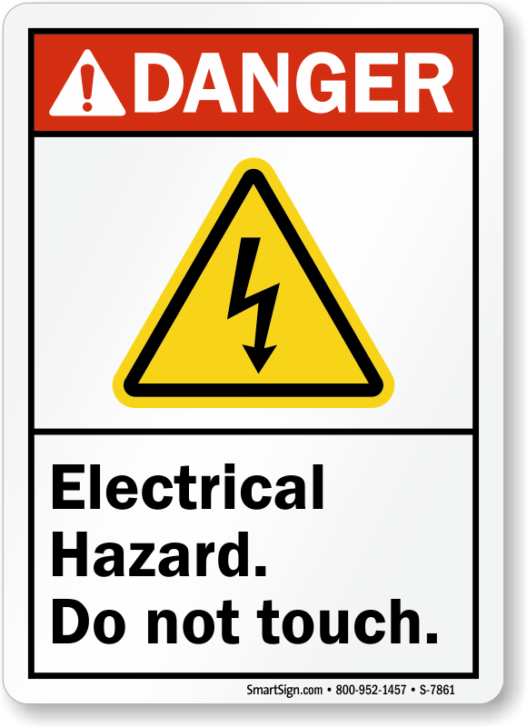 Electrical Hazard Do Not Touch ANSI Danger Sign