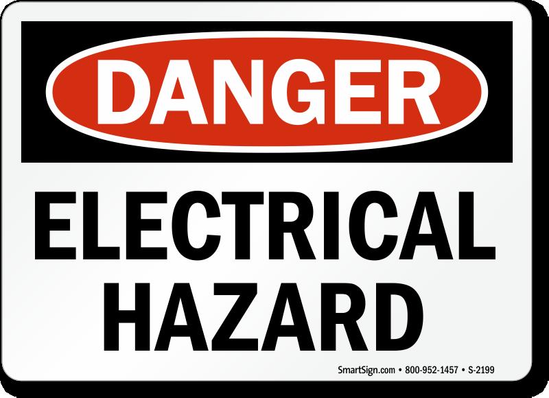 Electrical Hazard Signs Osha Ansi Compliant