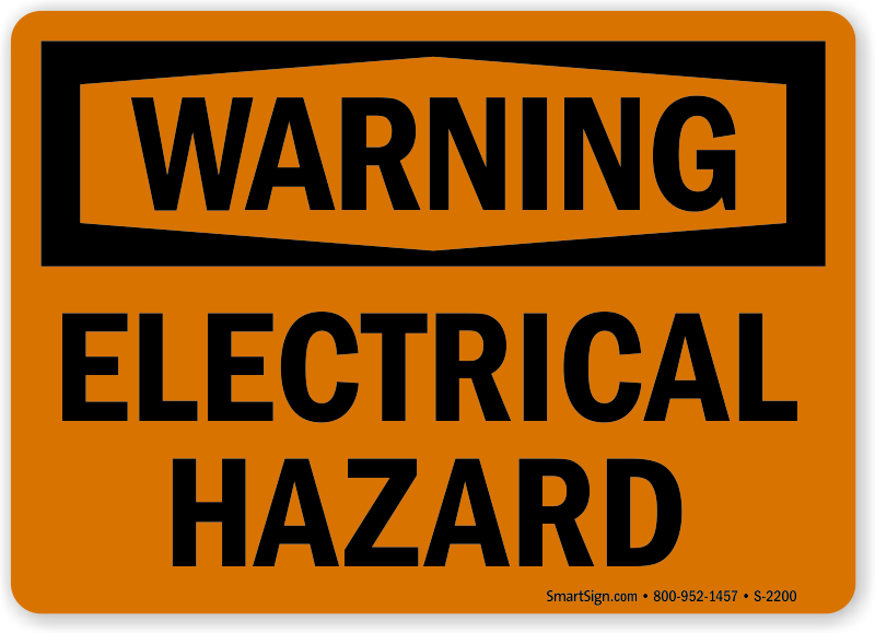 Electrical Hazard Warning Sign Shipping Is Free Sku S