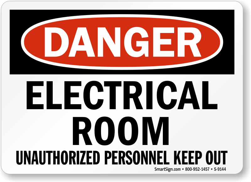 Electrical Room Signs Mysafetysign Com