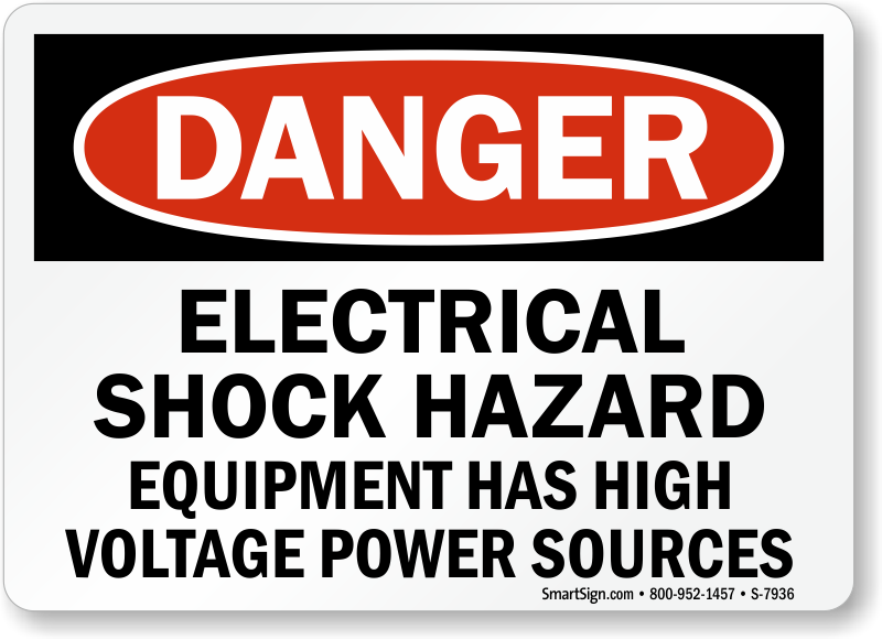 Electrical Hazard Equipment Has High Voltage Power Sign