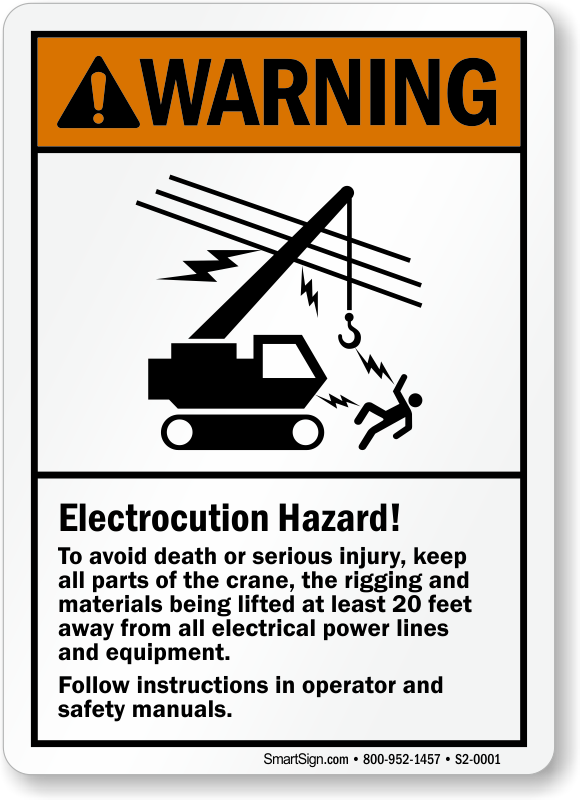 Electrocution Hazard Avoid Death Serious Injury Warning Sign