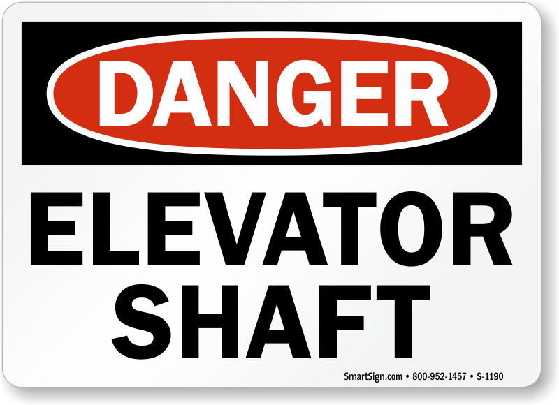 Buy Elevator Shaft Sign From Usa Manufacturer Sku S