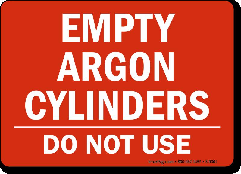 Argon Signs Argon Warning Signs Argon Cylinder Signs