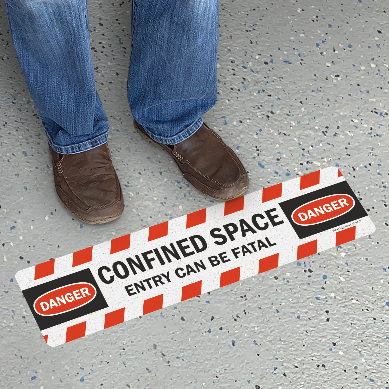 Confined Space Entry Can Be Fatal Floor Sign