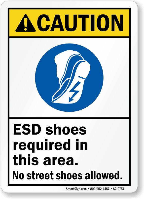 Caution Wear Safety Shoes In This Area