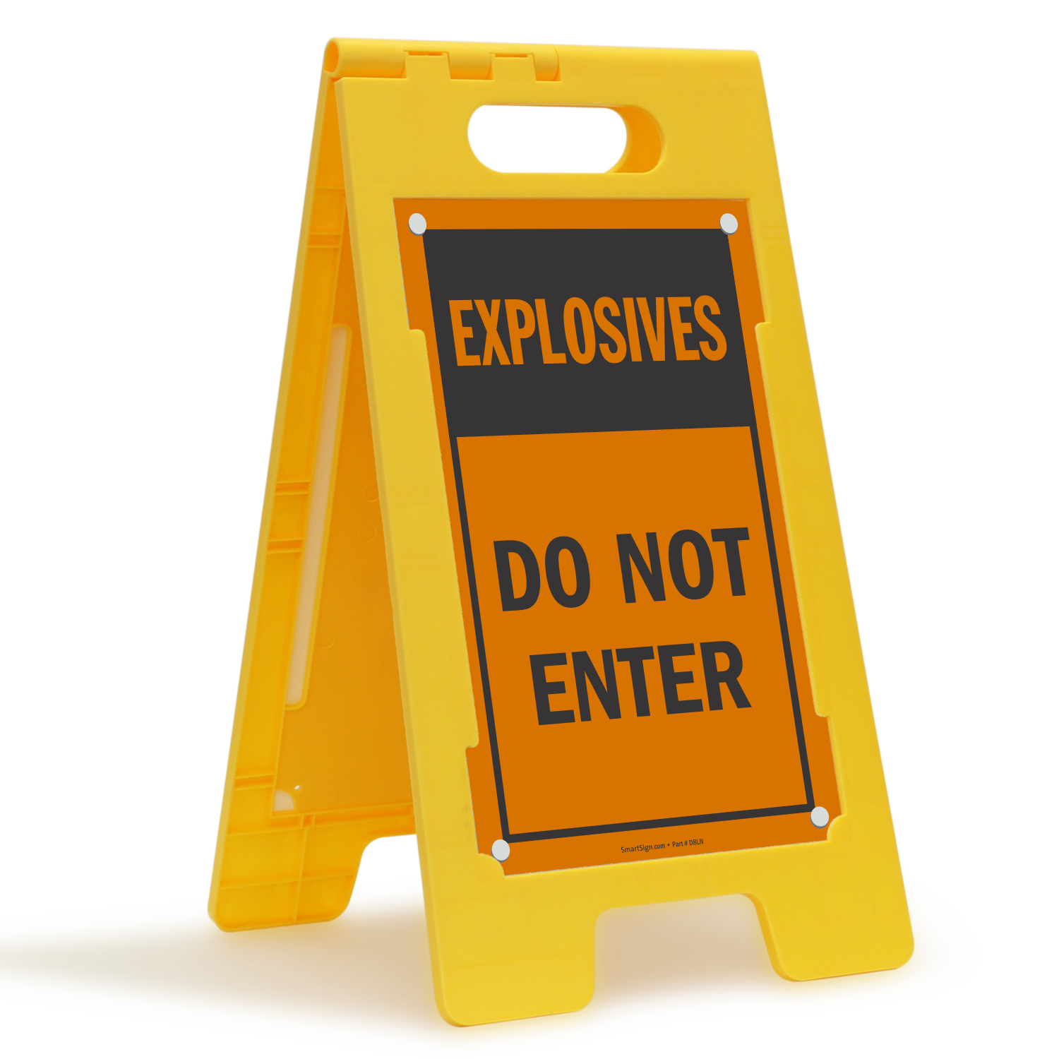 Explosives, Do Not Enter Standing Floor Sign
