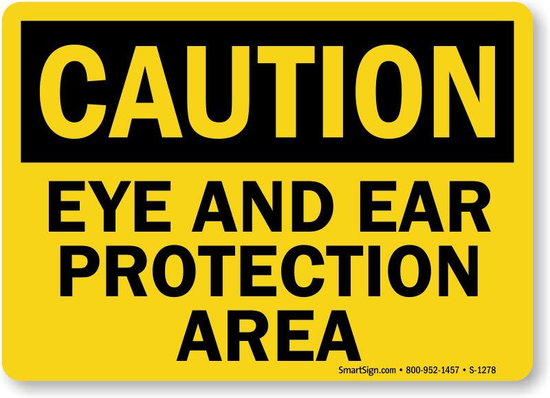 Eye And Ear Protection Signs Mysafetysign