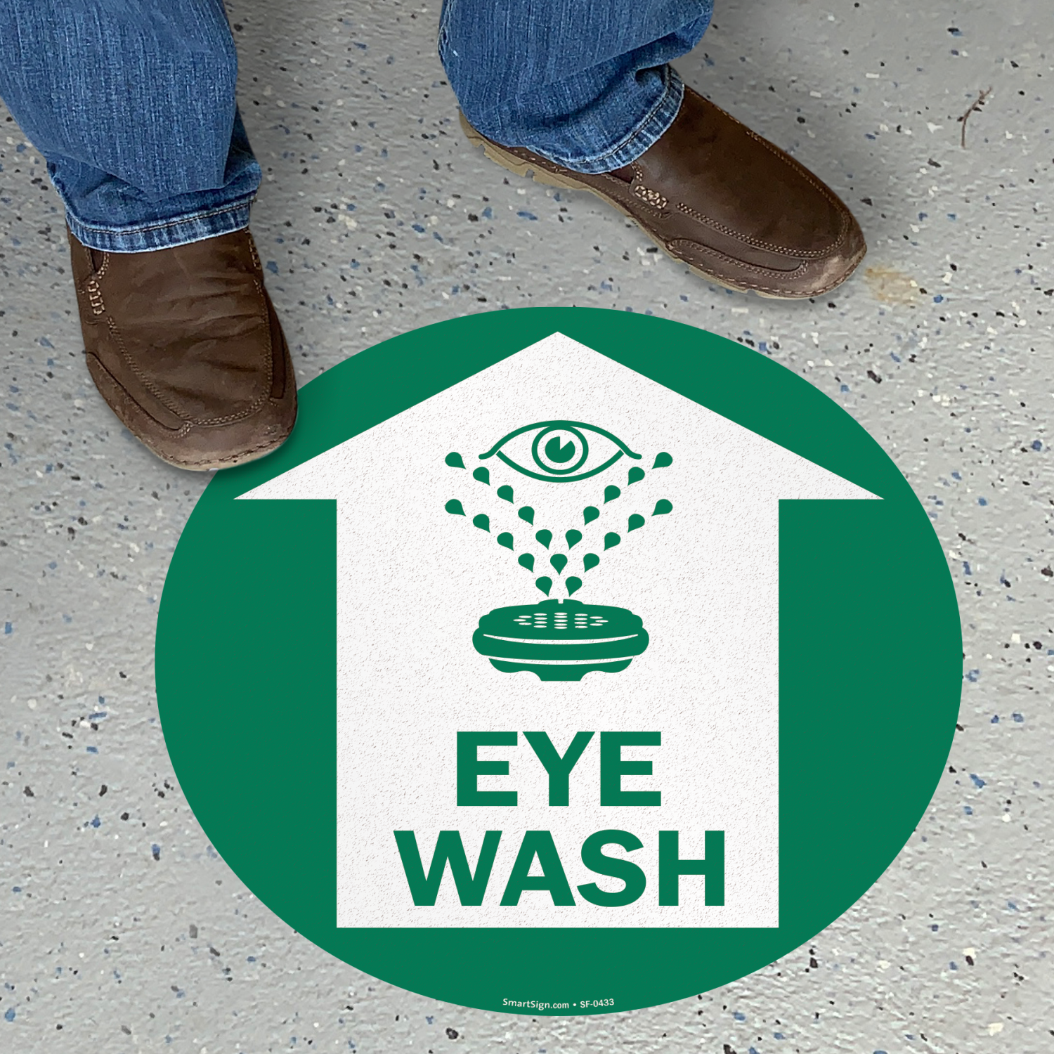 Eye Wash SlipSafe Floor Sign