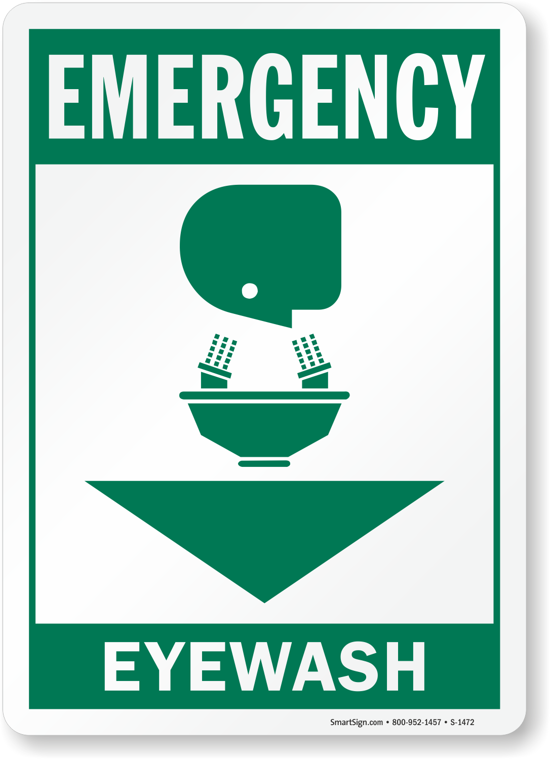 Eye Wash Emergency Sign Sku S 1472 Mysafetysign Com