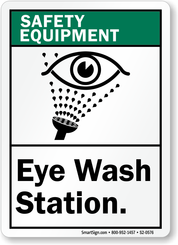 Eye Wash Station Safety Equipment Sign