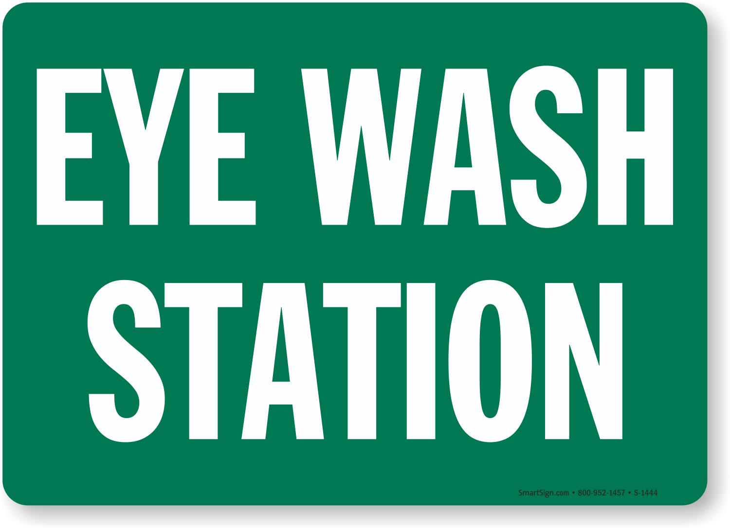 e38339072c2 Eye Wash Station Signs