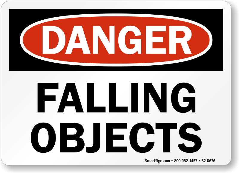 Falling Objects Danger Sign